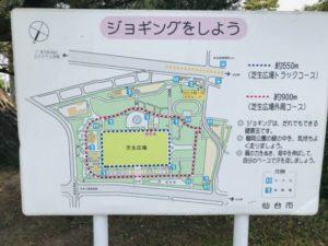 榴岡公園の看板